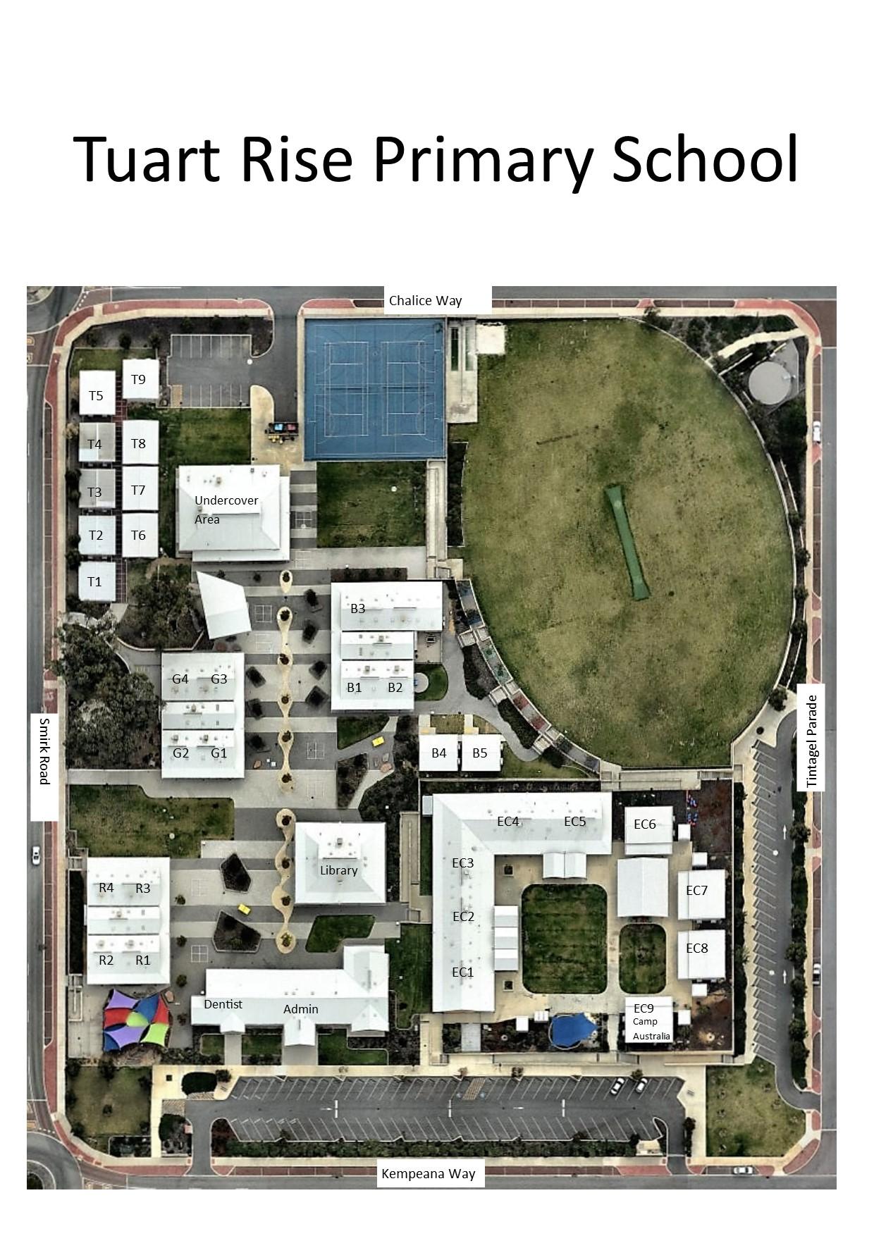 Tuart Rise Primary School Map